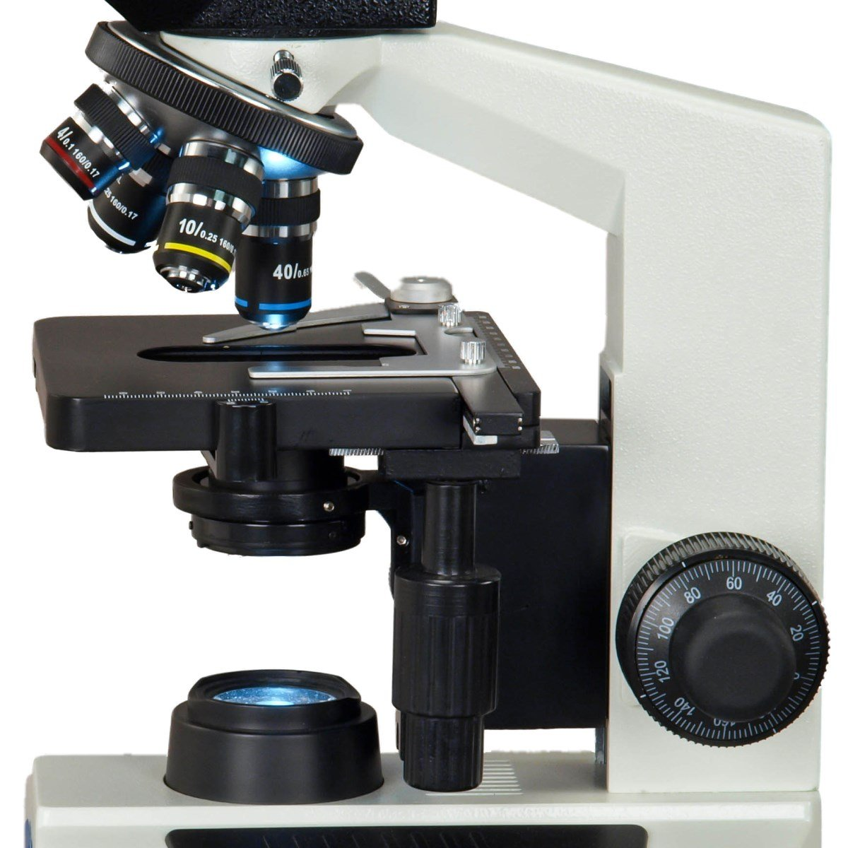 OMAX 40X-2500X Full Size Lab Digital Trinocular Compound LED Microscope with 14MP USB Camera and 3D Mechanical Stage by OMAX (Image #4)