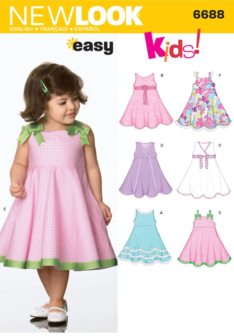 Amazon new look sewing pattern 6688 toddler separates size a amazon new look sewing pattern 6688 toddler separates size a 12 1 2 3 4 arts crafts sewing jeuxipadfo Choice Image
