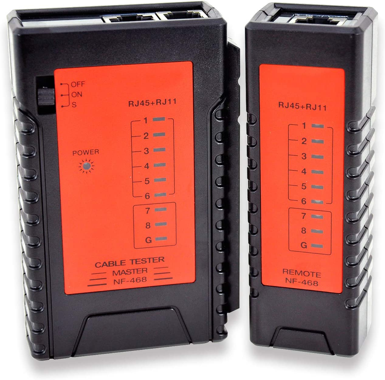 Cat-6 Tester per cavi di rete LAN RJ11 e RJ45 KOLSOL NF-468 Cat-5