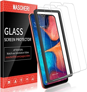 MASCHERI Protector de Pantalla para Samsung Galaxy A20 Cristal ...