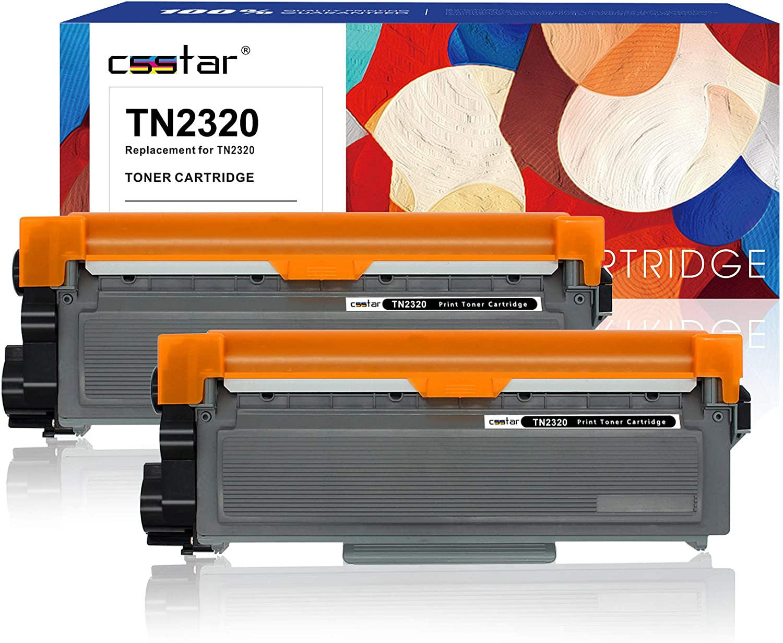 CSSTAR Compatible Cartuchos de Tóner Reemplazo para Brother TN2320 ...