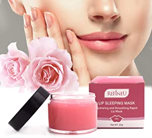 RefineU Lip Sleeping Mask 20g Hydrating and Smoothing Lip Balm, Best Solution for Dry, Cracked, Peeling Lips