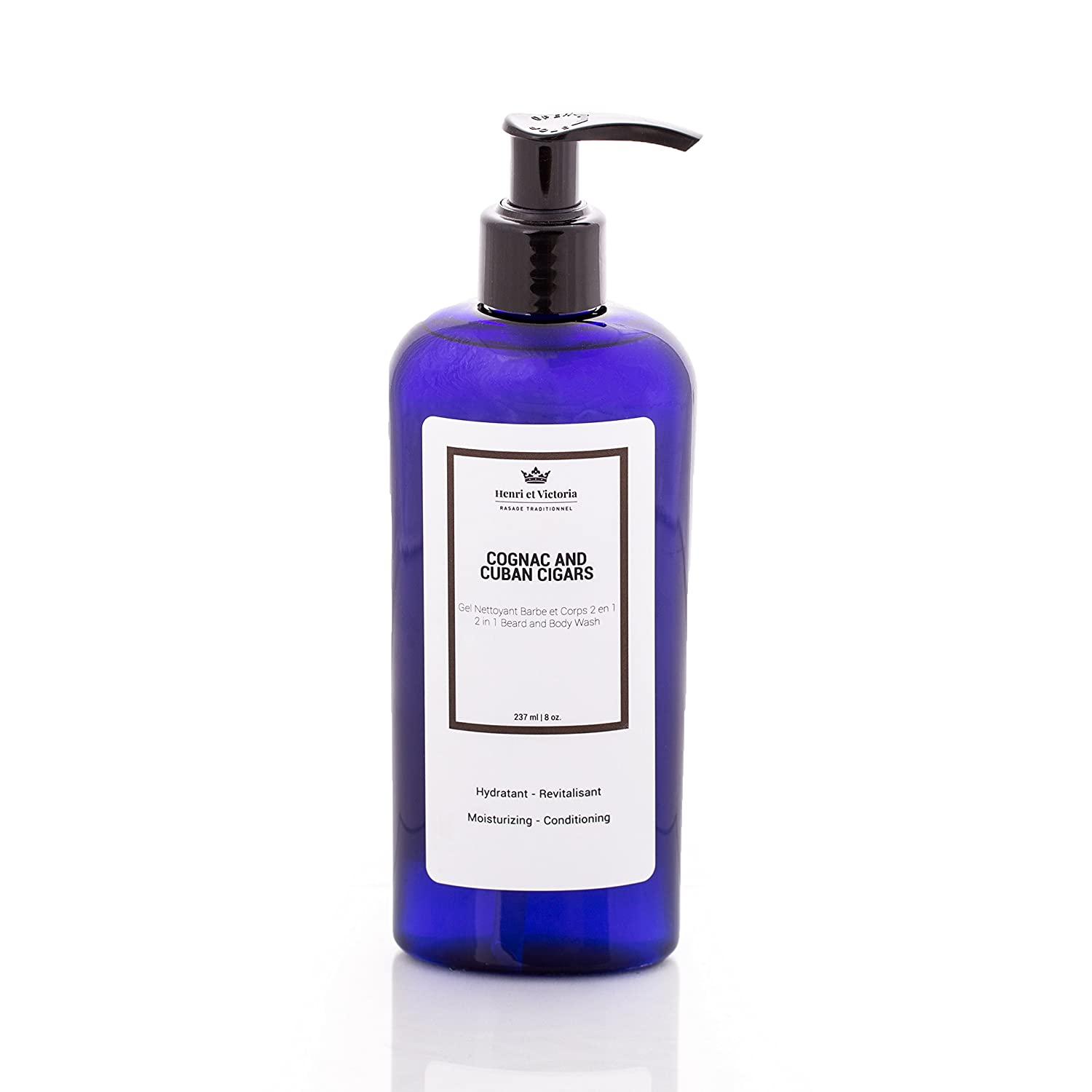 Cognac and Cuban Cigars Beard Wash Body Wash For Men | Hand Made in CANADA by Henri et Victoria | Moisturizing and soothing | 8oz Henri et Victoria inc