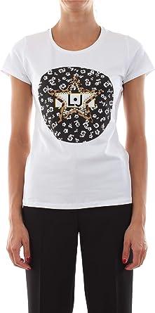 T-Shirt Liu Jo con Pailettes Colore banco E20LJ33