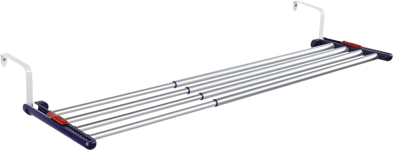 Leifheit Tendedero colgante Quartett 42, tendedero extensible de aluminio, tendedero de ropa apto para uso en interiores y exteriores