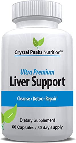 Liver Detox Repair Formula 22 Herbs Support Supplement Milk Thistle EXTRACTS SILYMARIN, N-Acetyl CYSTEINE, Beet, Artichoke, Dandelion, Chicory Root 60 Capsules 30 Day Supply