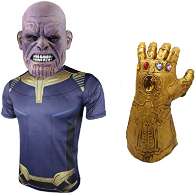 avengers infinity war thanos mask infinity gauntlet halloween props deluxe thanos maskgloves