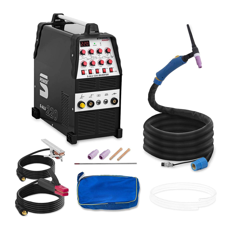 Stamos Power - S-ALU 220 - Soldador de aluminio - 200 A - 230 V - Pulso - 2/4 Tiempos