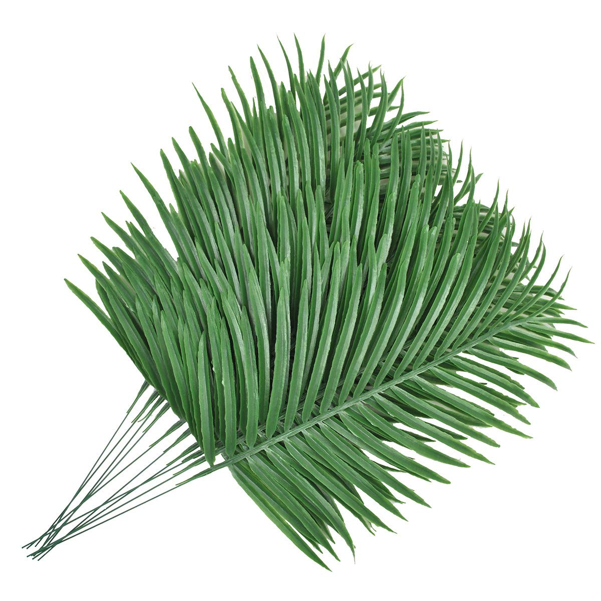 12 Pack Faux Fake Tropical large Palm Leaves Artificial Palm Plants Leaves Imitation Leaf Artificial Plants for Home Party Wedding Decorations