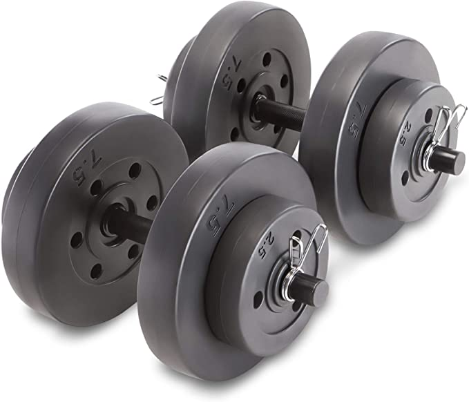 CAP Adjustable 40LB Dumbbell Set Bar /& Plates Weight Lifting Home Gym Workout