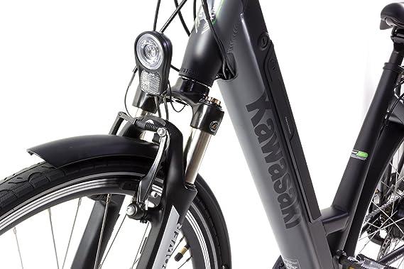 Bicicleta eléctrica Kawasaki E-Power Trekking Lady: Amazon.es: Deportes y aire libre