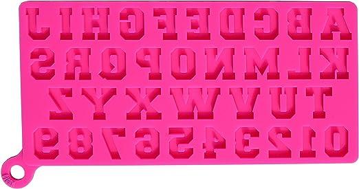 Silicone Cake Chocolate Baking Mould Alphabet Letter Number Fondant Mold Decor H