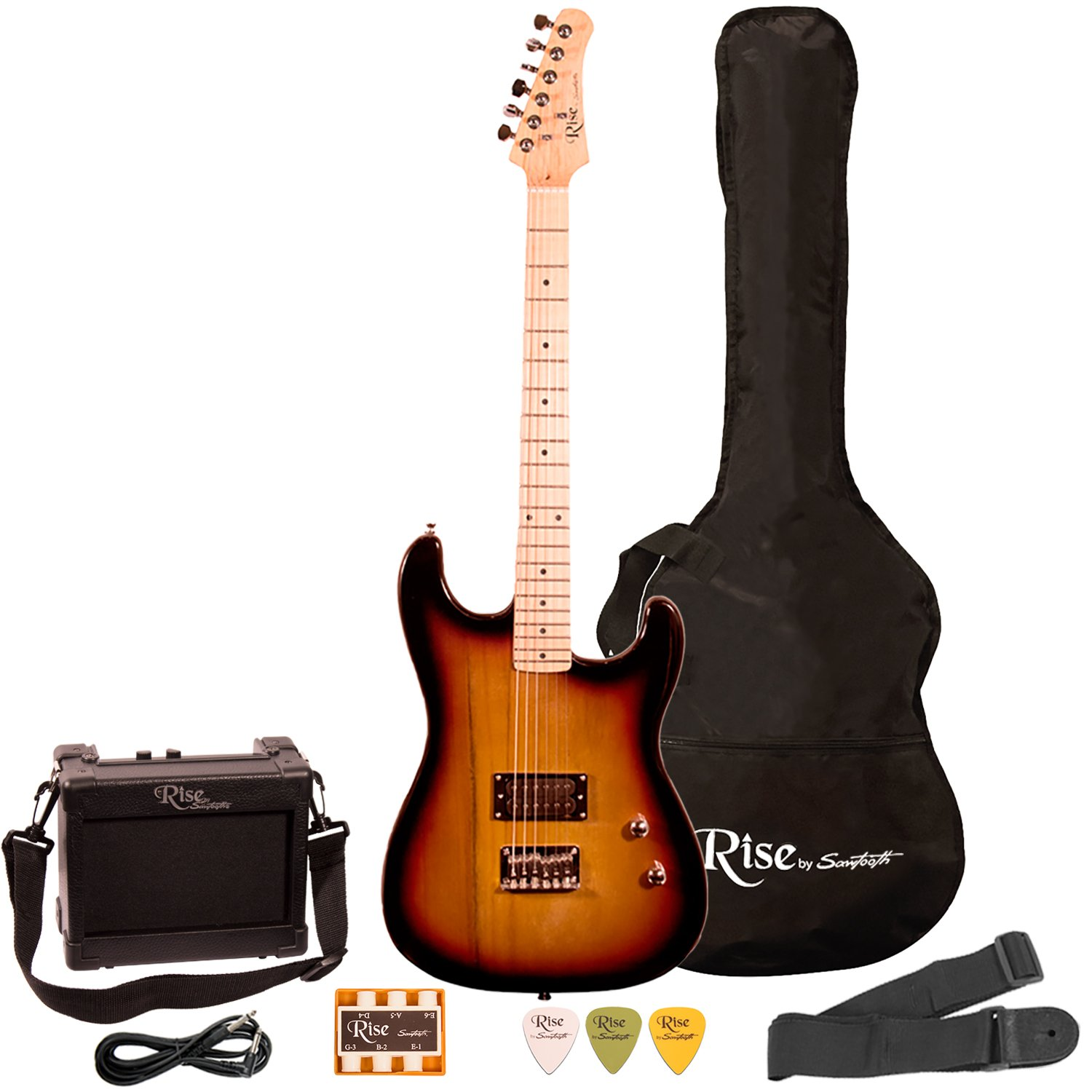 Rise by Sawtooth ST-RISE-ST-SB-KIT-1 Electric Guitar Pack, Sunburst by Sawtooth