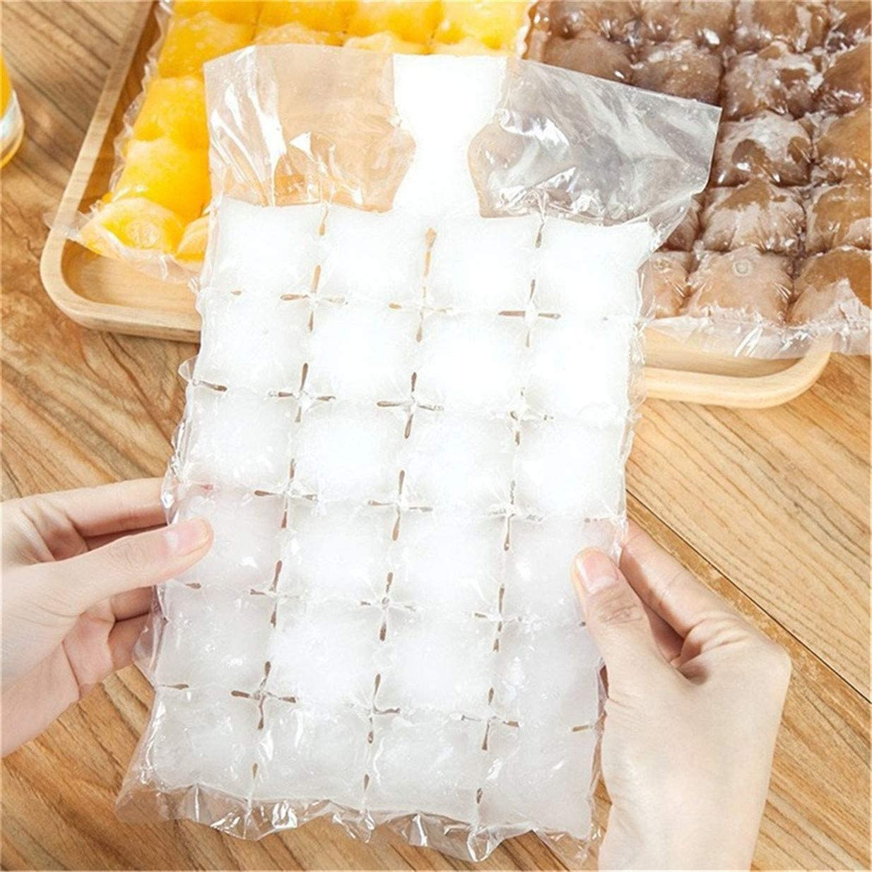 EJY Self-Sealing Disposable Ice Cube Bags Pack of 10