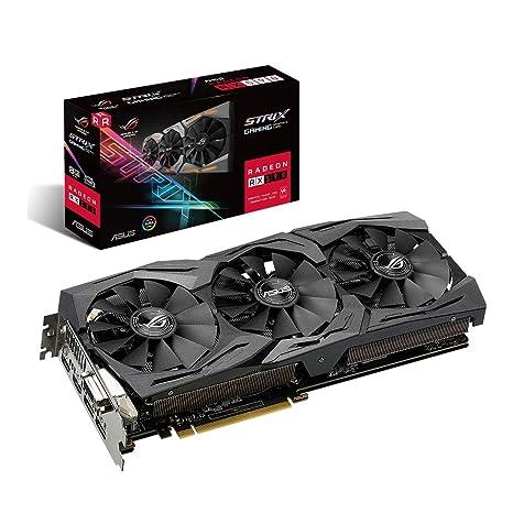 ASUS ROG Strix Radeon RX 590 8GB GDDR5 - Tarjeta gráfica (Tecnología MaxContact, Ventiladores Wing-Blade, Auto-Extreme, Super Alloy Power II, Fan ...