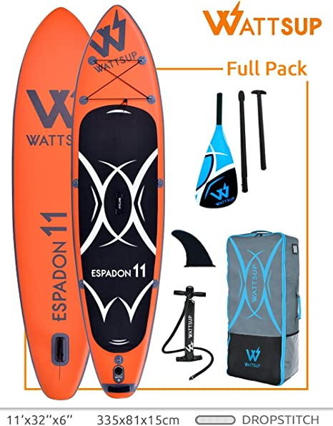 Wattsup Unisex Adulto PB-WESP110 Hinchable Stand Up Paddle Caer ...