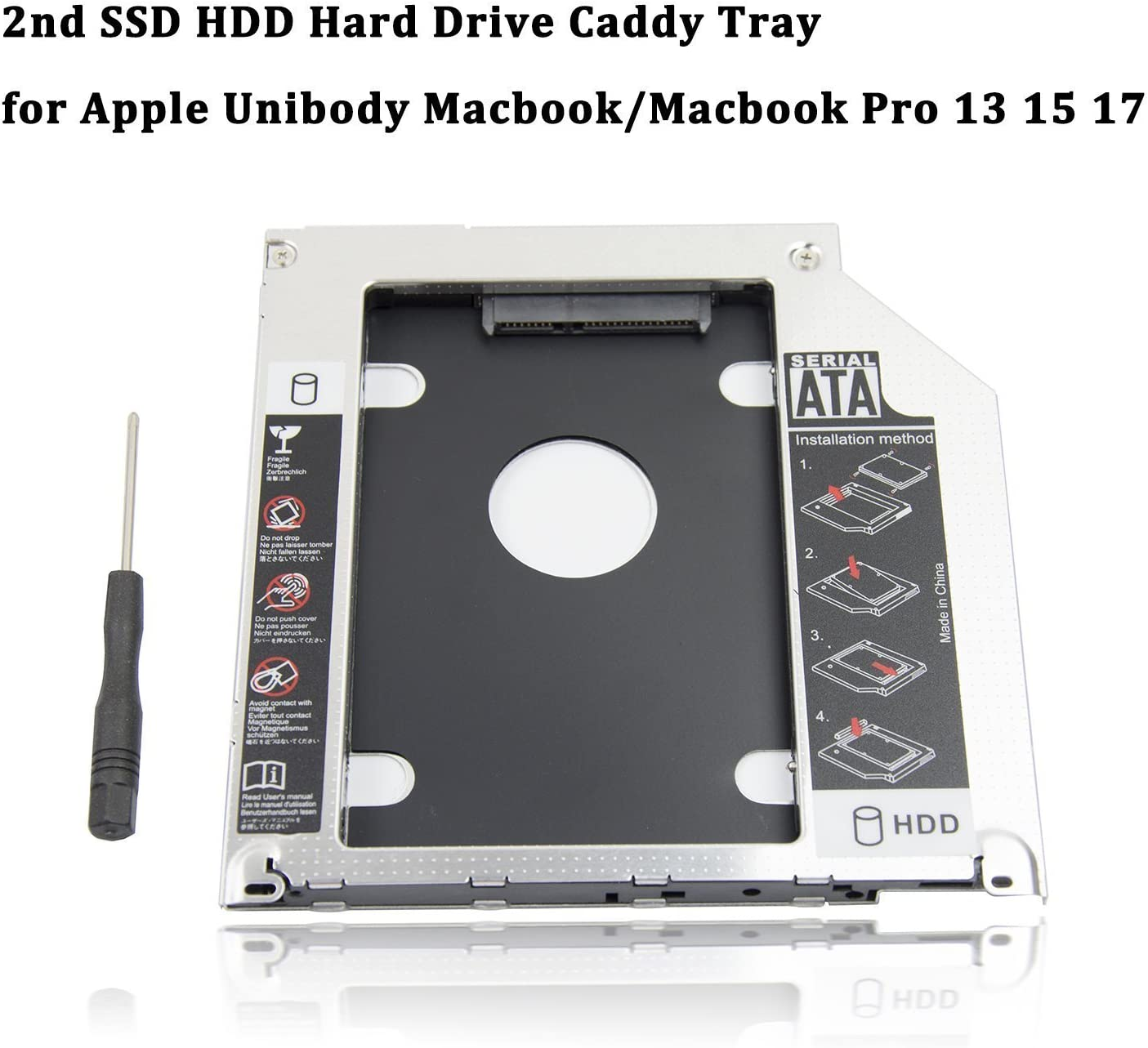 2nd Caddy 9.5mm BOX for Apple Unibody MacBook Pro 13