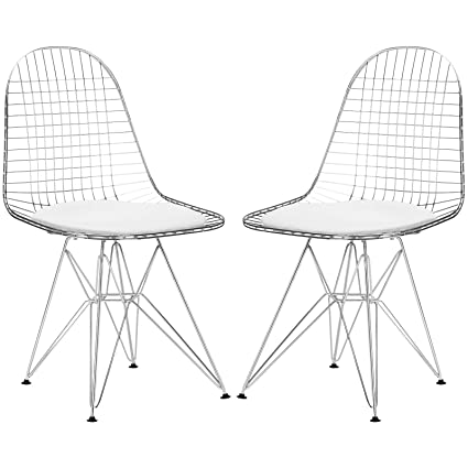 amazon com poly and bark hamlet side chair in white set of 2