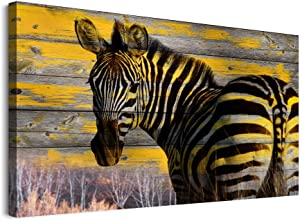 inspiration Wall Art Decor Animals Canvas Art Bedroom wall decor abstract paintings Modern Vintage Wood grain background zebra Pictures Farmhouse Prints Office Living Room Home Decoration 12x16 inch