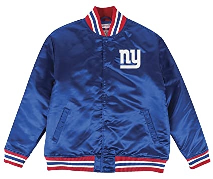 88a1a3744f9 Image Unavailable. Image not available for. Color  Mitchell   Ness New York  Giants NFL History Premium Satin Jacket