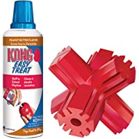 KONG - Jump'N Jack and Easy Treat Peanut Butter - Treat Dispensing Toy with Treats - for Small Dogs
