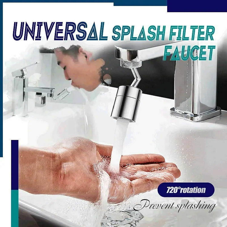 filtro a 4 strati design a prova di perdite con doppio O-Ring con testa girevole a 720/° con resistente rame e ABS Rubinetto filtro antispruzzo universale per rubinetto 1 pz