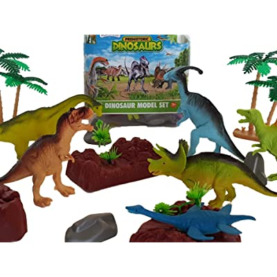 Playscene Large Dinosaur Animal Toy Figurines, Educational Animal Figurines (Dinosaur): Toys & Games