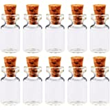 Larosso 50 Pcs 0.5 Ml Cute Mini Mini Empty Small Clear Wishing Jars With Cork Empty Glass Bottles Bottles Containers