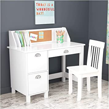 KidKraft Storage Kids 5 Piece Writing Table and Chair Set