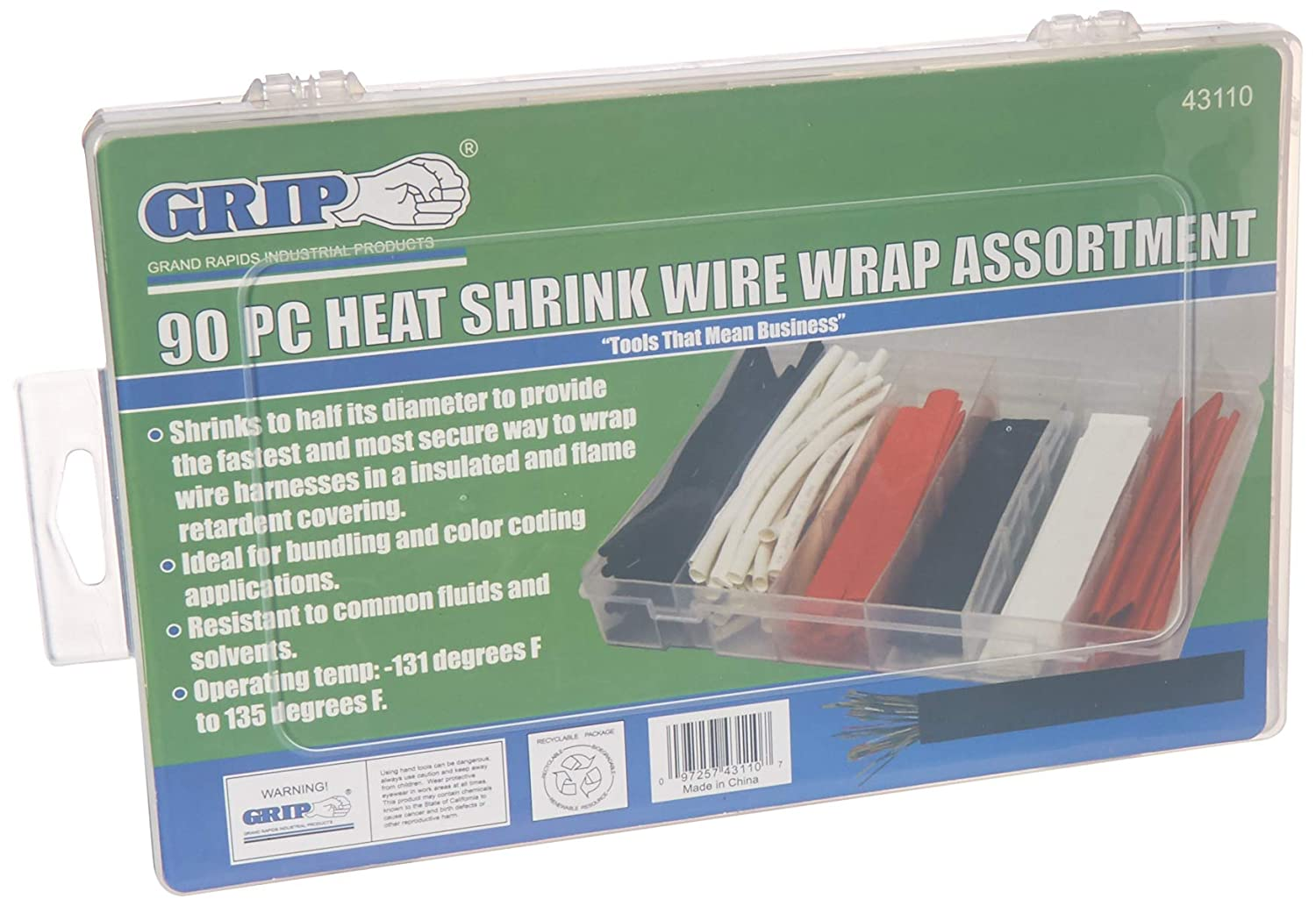 Gslf 4 Pin Wiring Harness Schematic Diagrams Wire Amazon Com Grip 90 Piece Heat Shrink Wrap Assortment Home