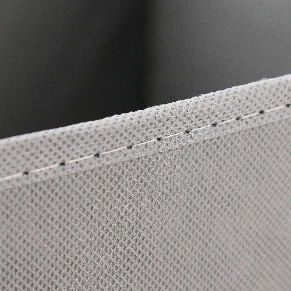extra Tiefe Aufbewahrungsbox f/ür noch mehr Stauraum Regalfach Aufbewahrungsbox mit Trageschlaufen und Fingerloch diMio SB1 Faltbox in Grau