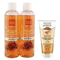 VLCC Hair Fall Control Shampoo (Buy 1 Get 1) and Kesar Chandan Face Wash Combo