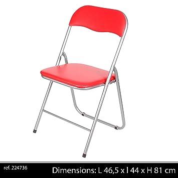 Chaise Pliante Assise Rouge465x44x81 Cm