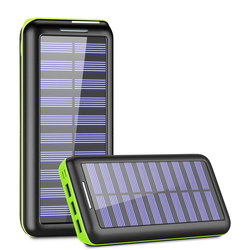 KEDRON Solar Charger, 24000mAh Portable Charger Power Bank
