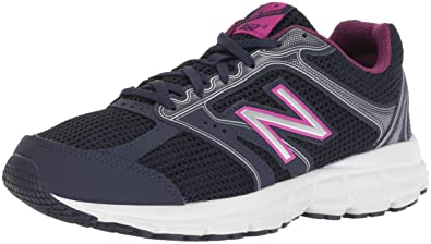 cd687e3de1350 New Balance Women's 460v2 Cushioning Running Shoe, Navy/Pink, 5.5 D US