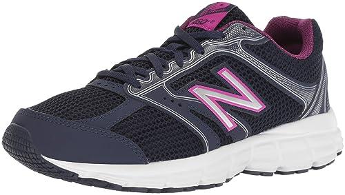 New Balance Women s 460v2 Cushioning Running Shoe, Navy Pink, 9.5 B US