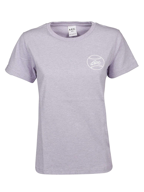 A.P.C Womens COCZDF26734HAAVIOLET Grey Cotton T-Shirt