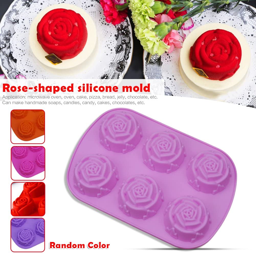 Silicone Soap Mold Flower Pattern Rectangular Handmade Soap Making DIY Mould PB