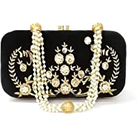 Duchess Women's & Girl's Party Wear Designer Box Clutch With Beautiful Pearl Handle