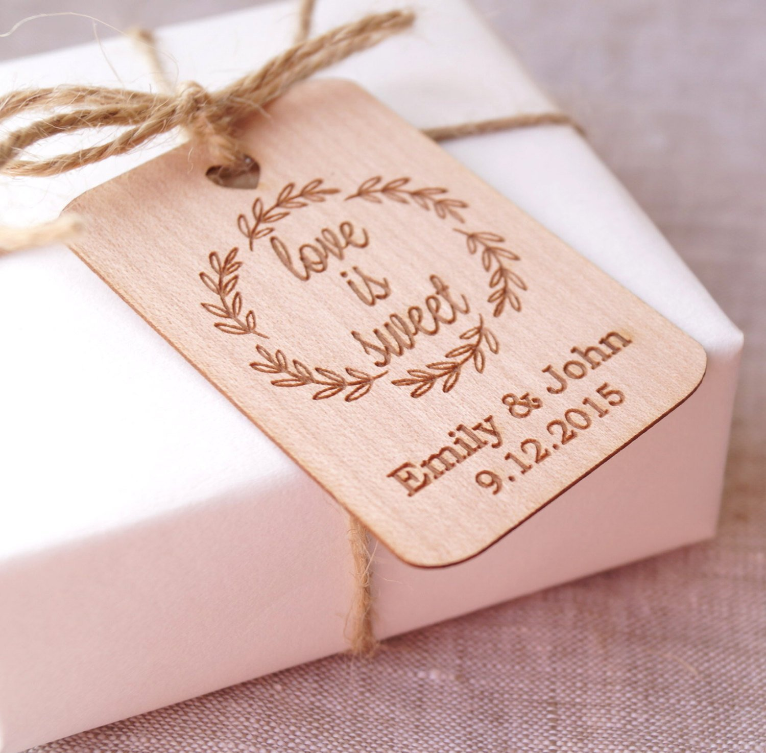 Amazon.com: Love is sweet wedding favor tags, wedding favor tags ...