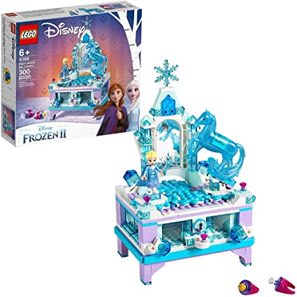 LEGO Disney Frozen II Elsas Jewelry Box Creation 41168 Disney Jewelry Box Building Kit with Elsa Mini Doll and Nokk Figure for Creative Play (300 ...