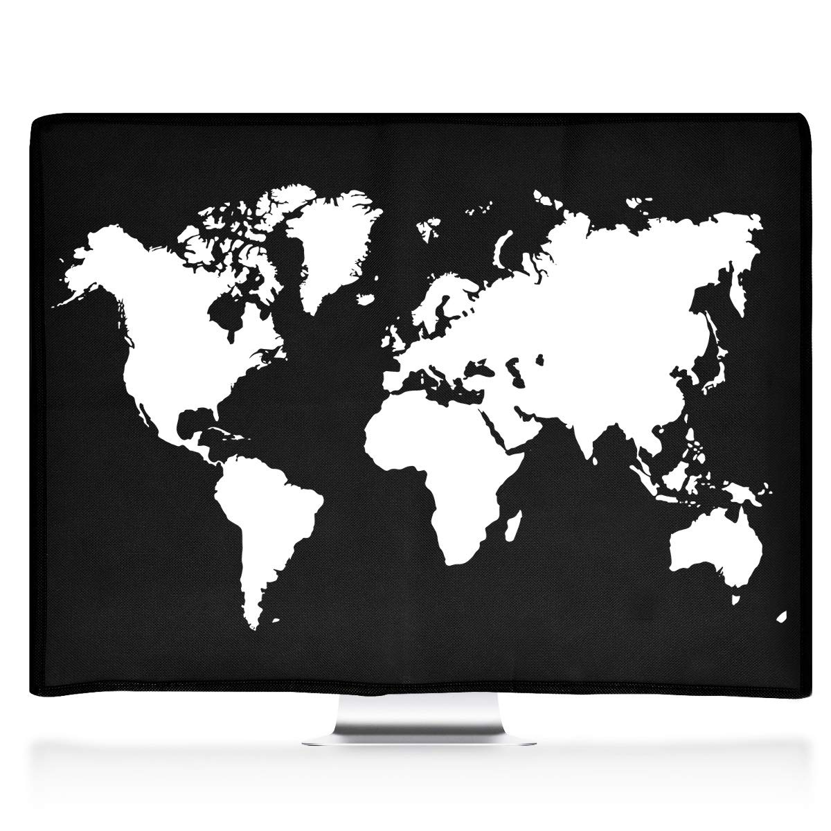 White//Black kwmobile Monitor Cover for Apple iMac 21.5 Dust Cover PC Monitor Case Screen Display Protector