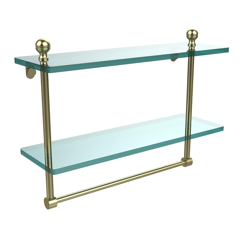 Allied Brass 41cm Double Shelf w/Towel Bar Satin Brass B004J4CO1G