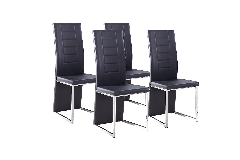 Cavadore Stuhl 4 Er Set Esther / Stühle Ohne Armlehne In Modernem Design /  Lederimitat