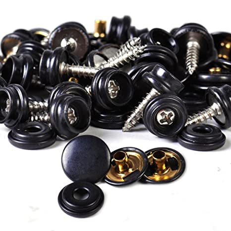 25set Snap Button Screw Studs fits Canvas Canopy Boat Marine Fastener Sockets