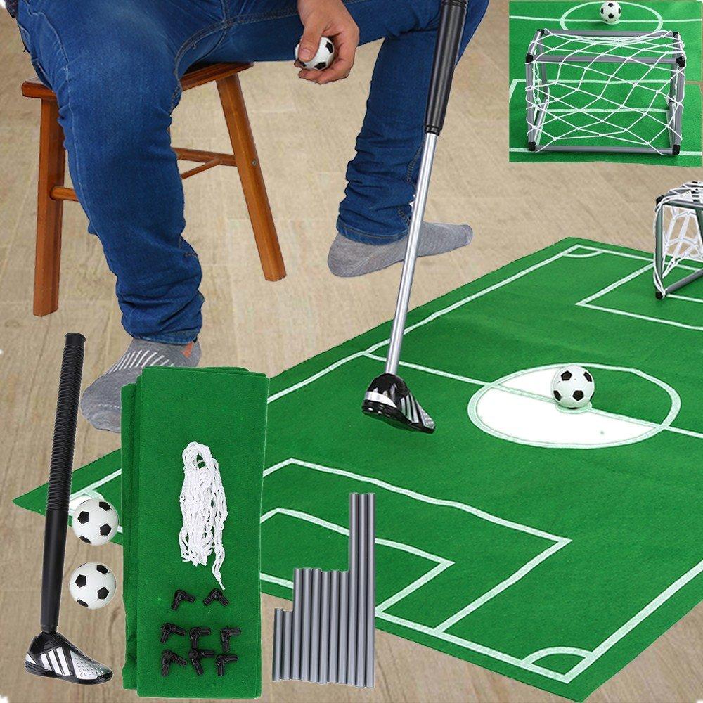 トイレSoccer Goal Game – ポータブルMini Football Soccer Goal Post Net Set withボールFootball For Kids Childrenインドアアウトドアトイレおもちゃセット B077VHX8C9