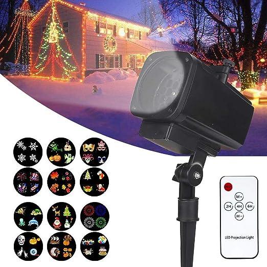 DECO LAMP IOFESINK Luces de proyector de Navidad, Reflector ...
