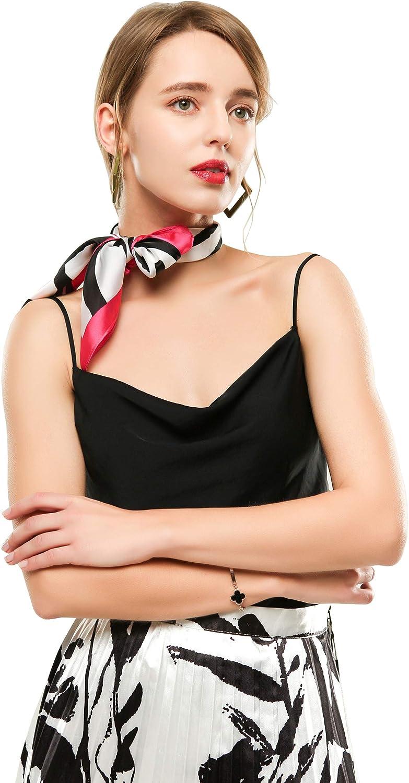 Square Scarves Silky Feeling Fashion 28 Silk Like Scarf for Women