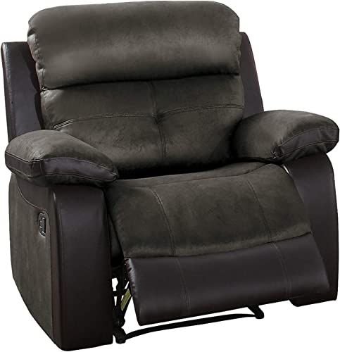 Homelegance Manual Reclining Chair, Brown Two-Tone