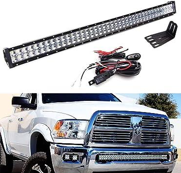2018 Model 2500 & 3500 19 to 21 Straight LED Light Bar Bumper ...